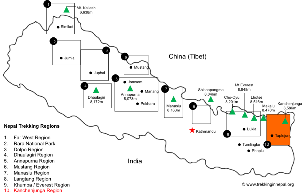 Kanchenjunga-Base-Camp-trek-map