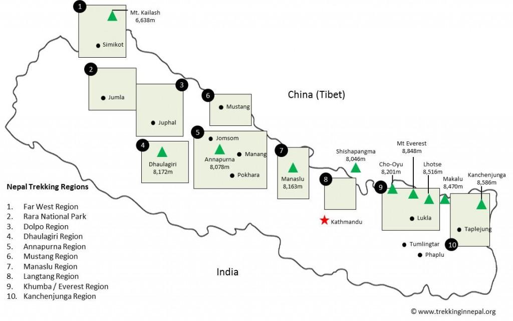 trekking-in-nepal-map