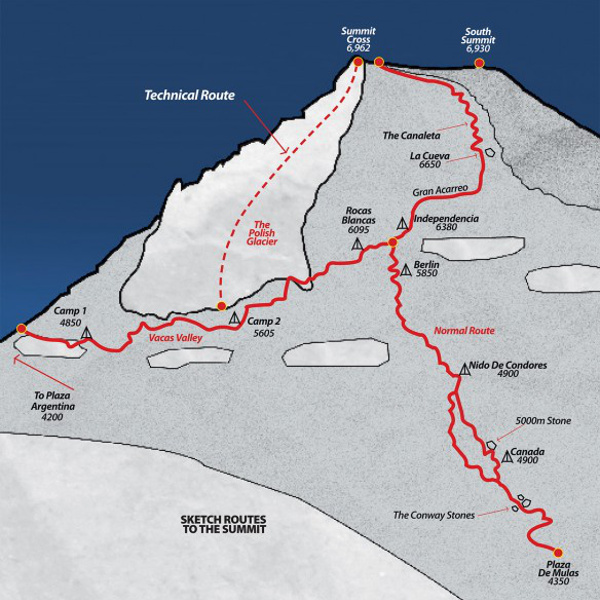 Mount Aconcagua Map an...