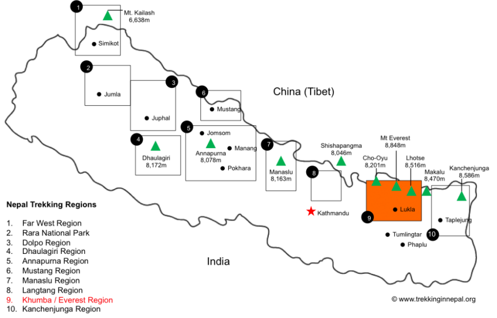 everest-base-camp-trek-regional-map