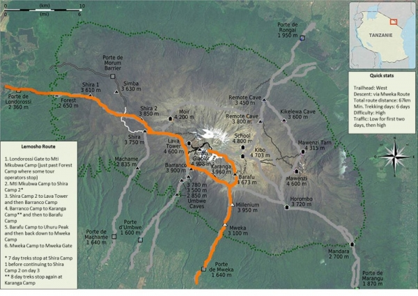 Lemosho-Route-Map
