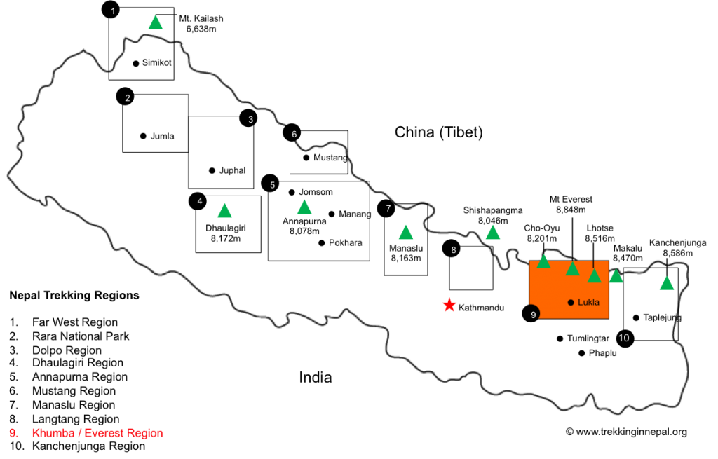 Khumbu-Valley-Trek-map