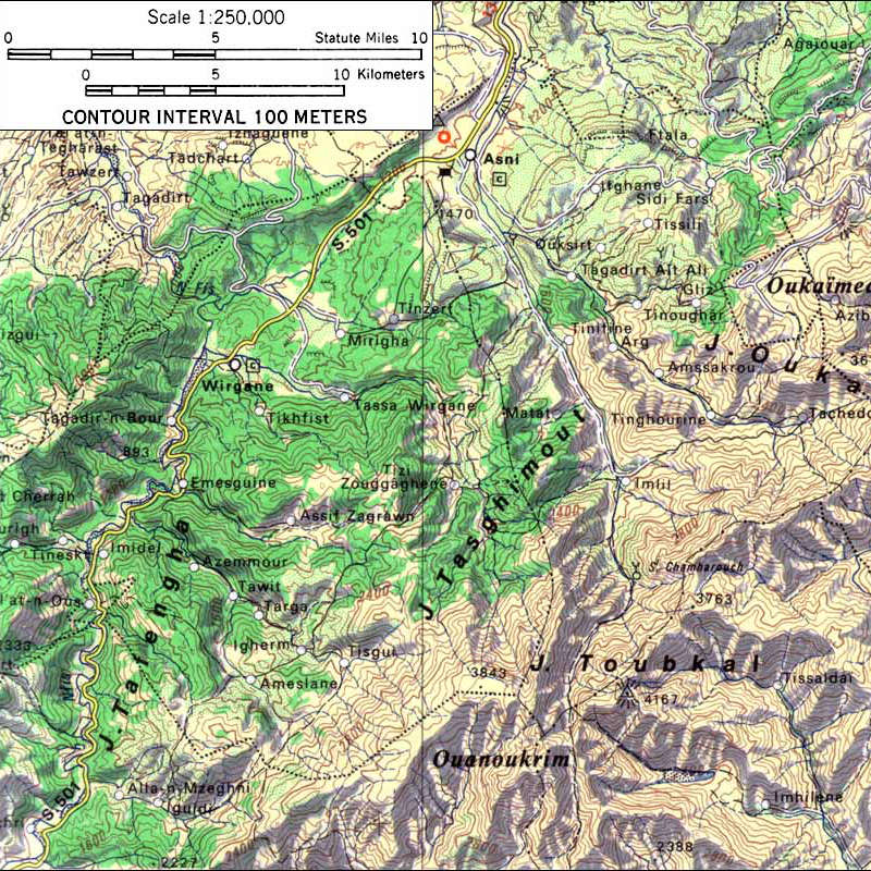 Mount-Toubkal-Topographical-Map