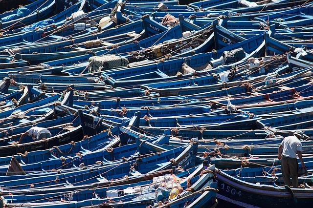 Trekking in Morocco Essaouira Blue Boats