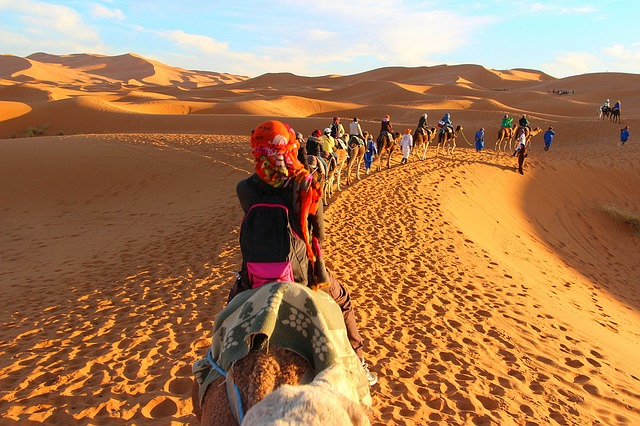 Trekking in Morocco Sahara Desert Camel Ride Caravan