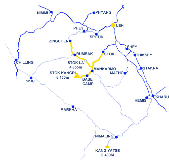 Stok Kangri Map