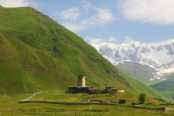 Ushguli Caucasus Mountains