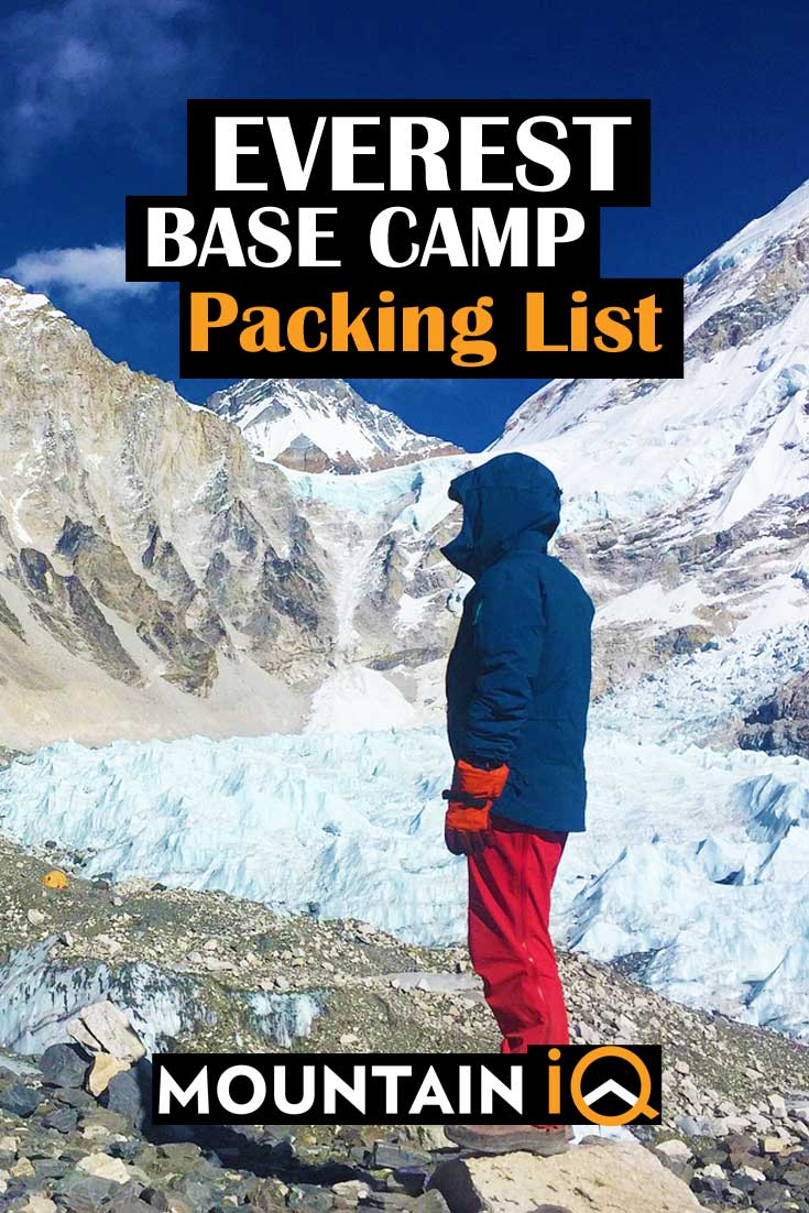 335f43494f4 Everest Base Camp Packing List - The Complete Equipment Guide