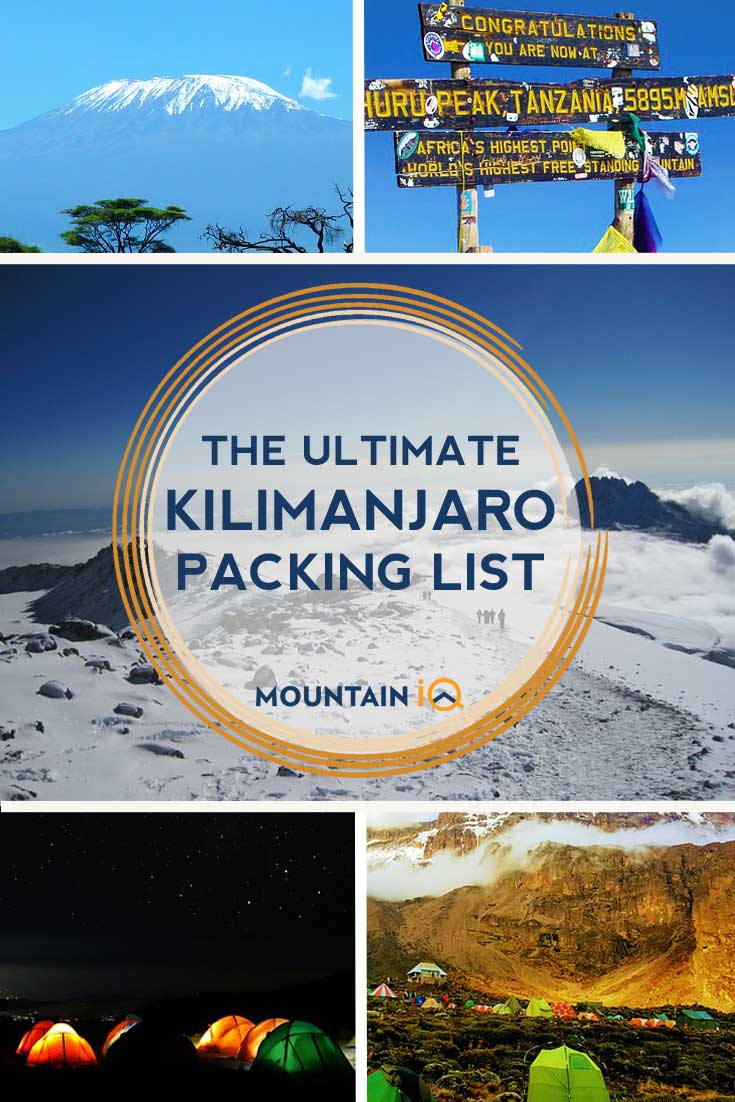 Kilimanaro Packing List Mountain IQ