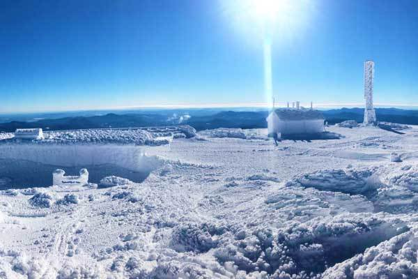 Summit in winter