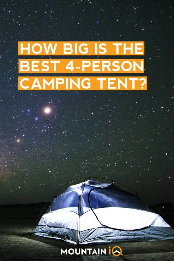 How big is the Best 4 Person Tent?
